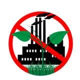 Icône contre la pollution de l'environnement Photographie stock
