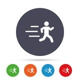 Icône courante de signe Symbole humain de sport Photos libres de droits
