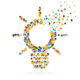 Icône créative abstraite de vecteur de concept de l'ampoule pour le Web et les applications mobiles d'isolement sur le fond Illus Photo stock
