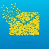 Icône créative abstraite de vecteur de concept de l'enveloppe pour le Web et les applications mobiles d'isolement sur le fond bla Images libres de droits