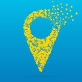 Icône créative abstraite de vecteur de concept de l'indicateur pour le Web et les applications mobiles d'isolement sur le fond bl Photo libre de droits