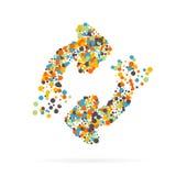 Icône créative abstraite de vecteur de concept des flèches pour le Web et les applications mobiles d'isolement sur le fond Vecteu illustration libre de droits