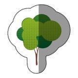 icône créative d'arbre de timbre de couleur Photo stock