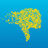Icône créative de point Photographie stock libre de droits