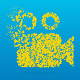 Icône créative de point Image stock