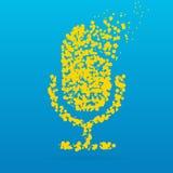 Icône créative de point Photos stock