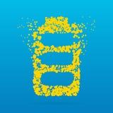 Icône créative de point Photos libres de droits