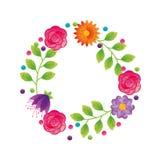 Icône décorative de cadre floral Illustration Stock
