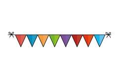 Icône décorative de guirlandes mignonnes Illustration Libre de Droits