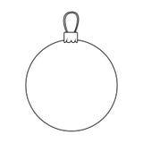 icône décorative de Noël de guirlande de silhouette illustration stock
