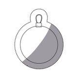 icône décorative de Noël de guirlande de silhouette d'autocollant illustration stock