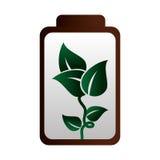 Icône d'écologie d'énergie de batterie Images stock