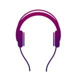 Icône d'écouteur Écoutez la musique stéréo avec un joueur audio Photos stock