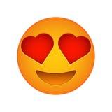 Icône d'émotion d'amour de visage d'emoji d'amour illustration libre de droits