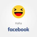 Icône d'émotion de Facebook Vecteur riant d'emoji de Haha illustration stock