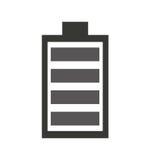 Icône d'énergie de puissance de batterie illustration stock