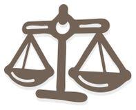 Icône d'équilibre de justice Illustration de Vecteur