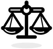 Icône d'équilibre de justice Illustration Stock