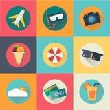 Icône d'été Tendance plate de conception Photos stock
