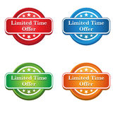 Icône d'étiquette d'offre de temps limité Photos libres de droits