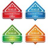 Icône d'étiquette d'offre de temps limité Photo stock