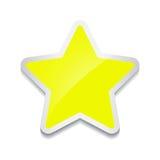 Icône d'étoile, autocollant sur le fond blanc illustration libre de droits