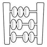 Icône d'abaque, style 3d isométrique Images libres de droits