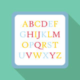 Icône d'ABC d'enfants, style plat Images libres de droits