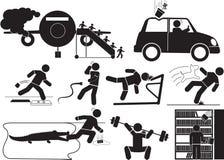 Icône d'accidents illustration stock