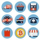 Icône d'achats Images libres de droits