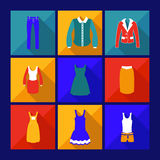 Icône d'achats avec l'ombre Photographie stock libre de droits