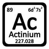 Icône d'actinium d'élément de table périodique Photos stock