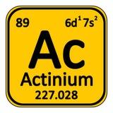 Icône d'actinium d'élément de table périodique Image stock
