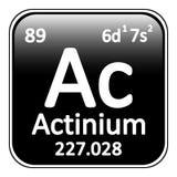 Icône d'actinium d'élément de table périodique Photographie stock libre de droits