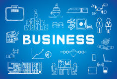 Icône d'affaires Image stock
