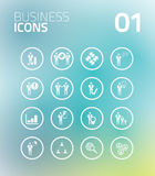 Icône d'affaires de cercle avec le fond frais Images libres de droits