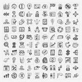 Icône d'affaires de griffonnage Image libre de droits
