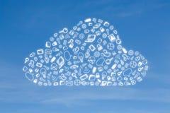 Icône d'affaires en nuage de forme Photos stock