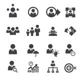 Icône d'affaires et de gestion illustration stock
