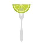 icône d'agrumes de citron Images stock