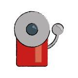 Icône d'alerte de secours du feu d'alarme de dessin illustration libre de droits