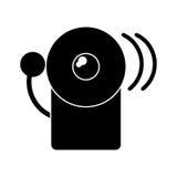 Icône d'alerte de secours du feu d'alarme de silhouette illustration libre de droits