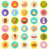 Icône d'aliments de préparation rapide Images libres de droits