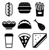 Icône d'aliments de préparation rapide Photo libre de droits