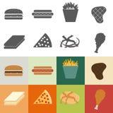 Icône d'aliments de préparation rapide Photographie stock