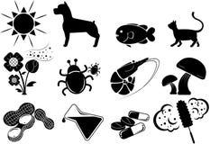 Icône d'allergie illustration stock