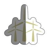 icône d'alternative d'énergie de moulins à vent Photographie stock libre de droits