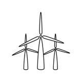 icône d'alternative d'énergie de moulins à vent Photos libres de droits