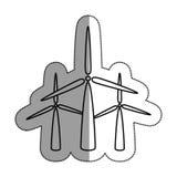 icône d'alternative d'énergie de moulins à vent Image libre de droits