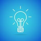 Icône d'ampoule de vecteur Photographie stock libre de droits